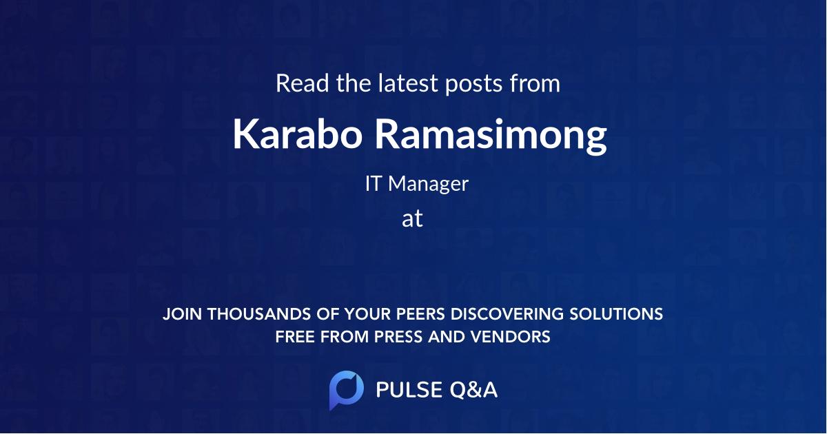Karabo Ramasimong