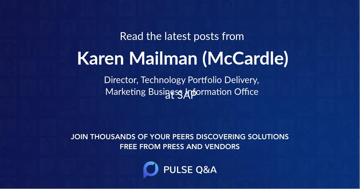 Karen Mailman (McCardle)