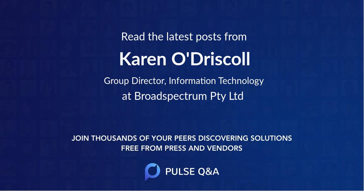 Karen O'Driscoll
