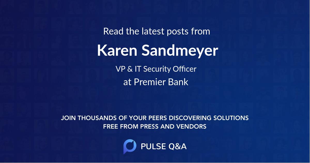 Karen Sandmeyer