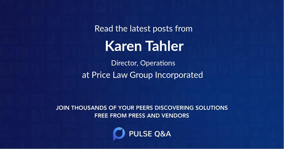 Karen Tahler