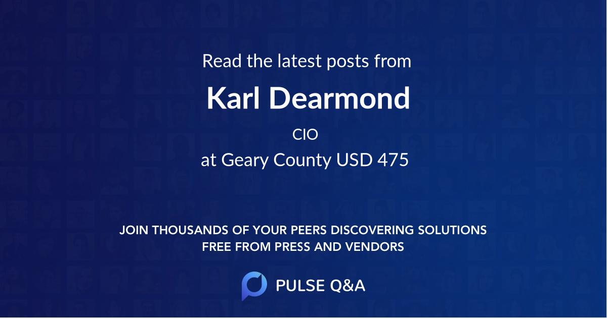 Karl Dearmond