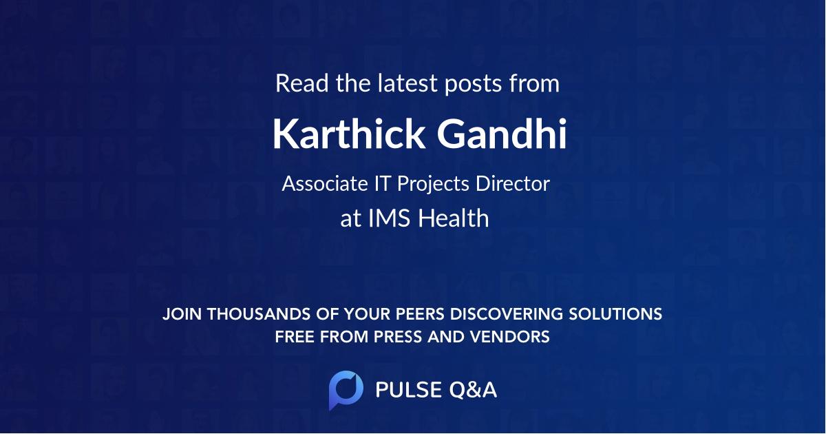 Karthick Gandhi