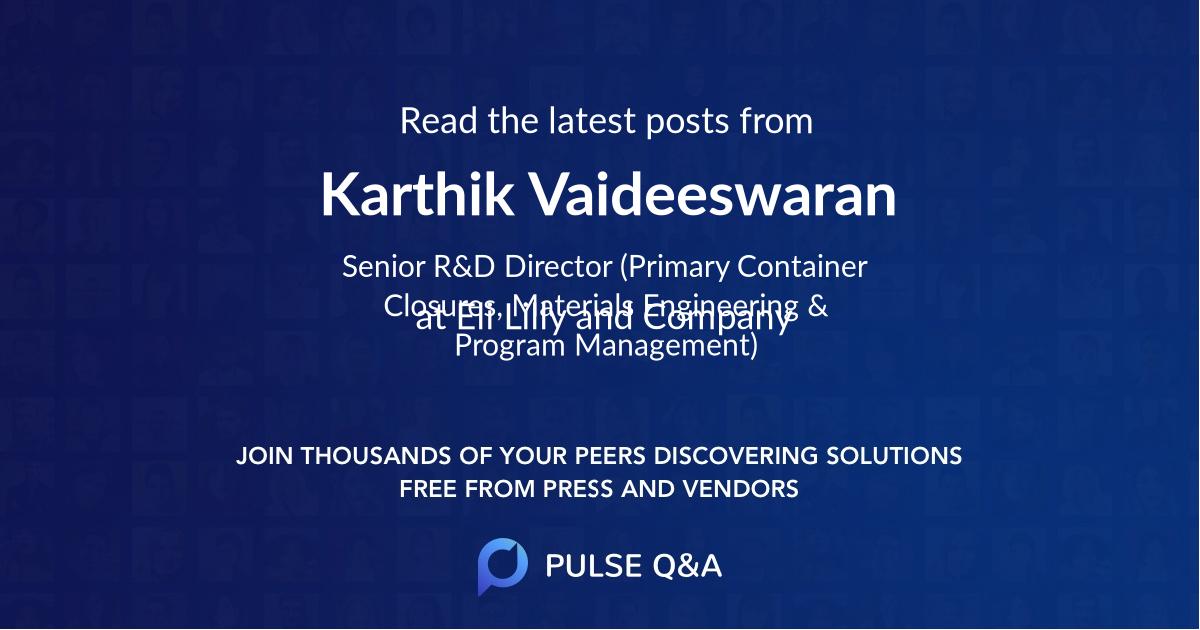 Karthik Vaideeswaran