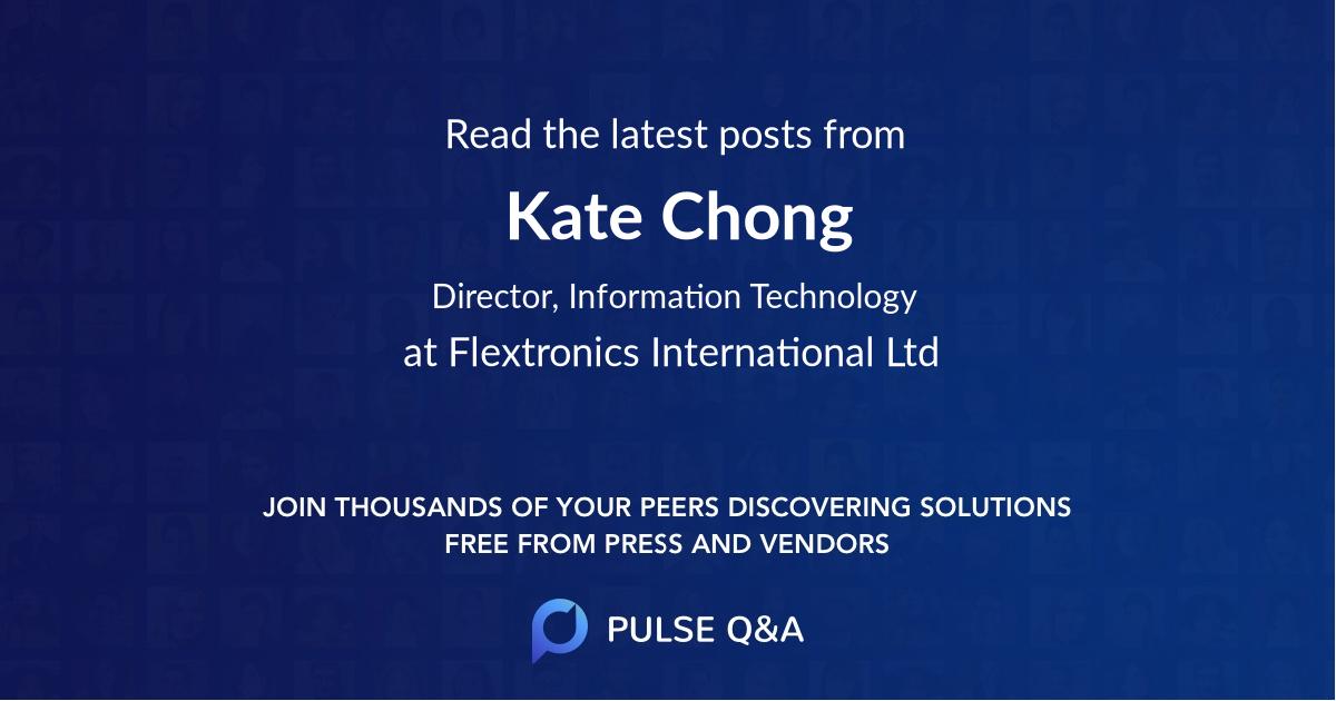 Kate Chong