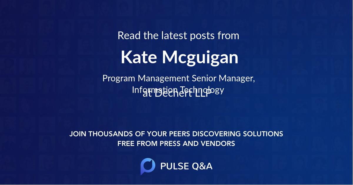 Kate Mcguigan