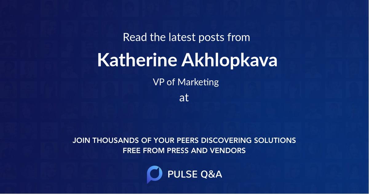 Katherine Akhlopkava