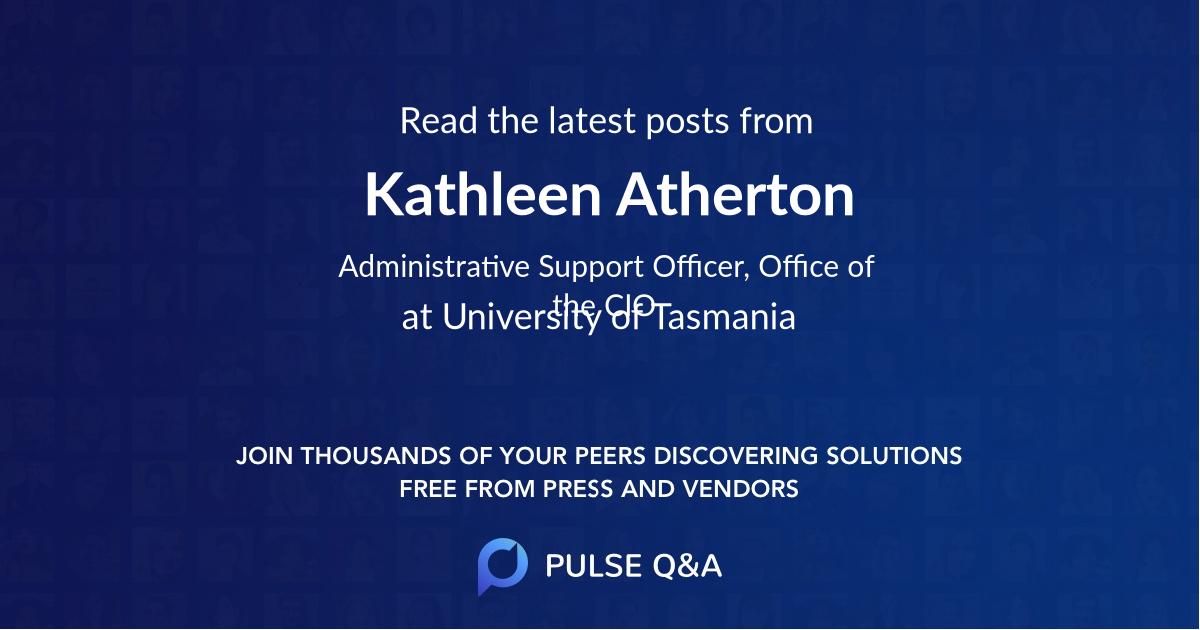 Kathleen Atherton