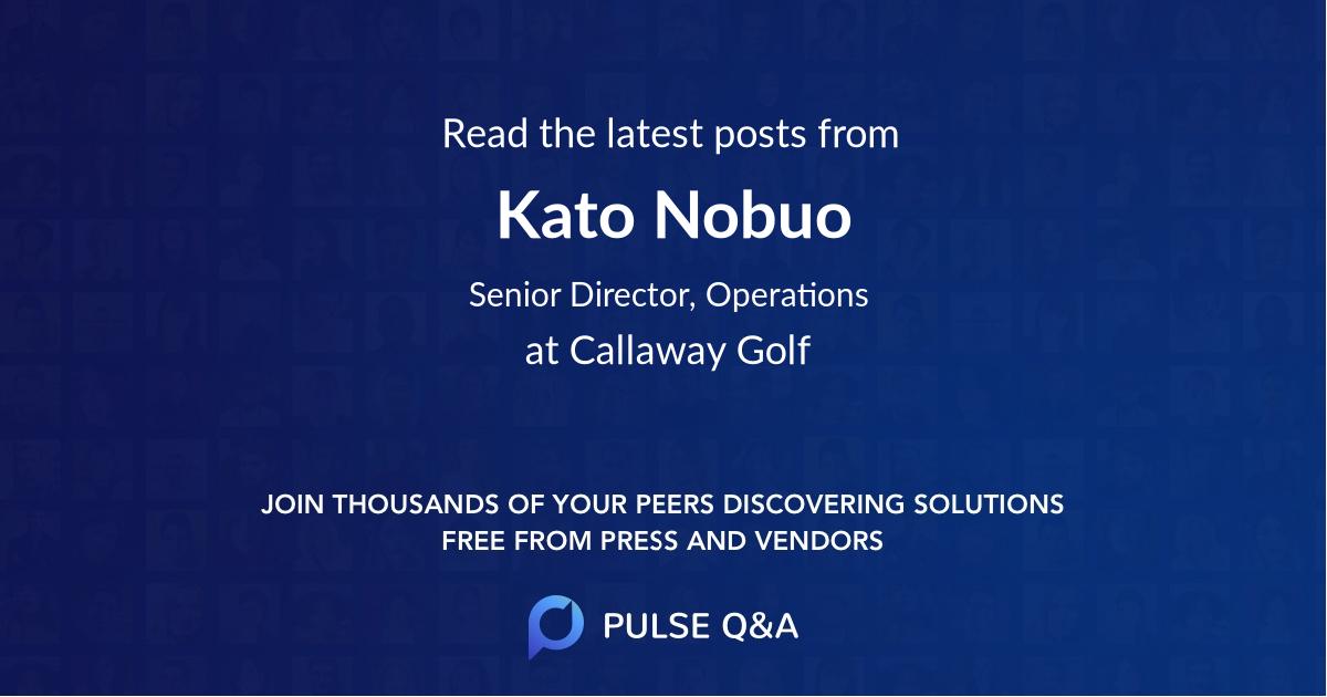 Kato Nobuo