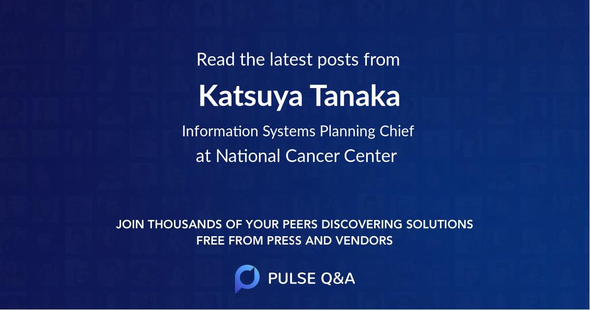 Katsuya Tanaka