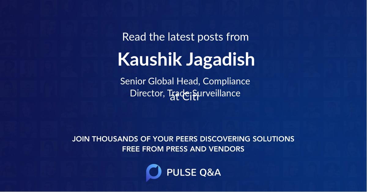 Kaushik Jagadish