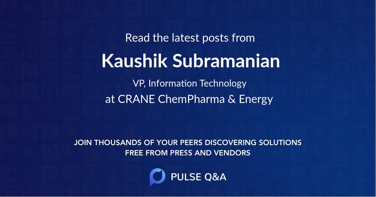 Kaushik Subramanian