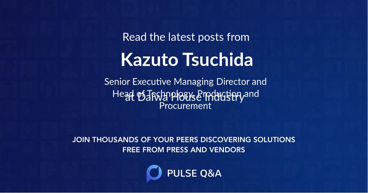 Kazuto Tsuchida