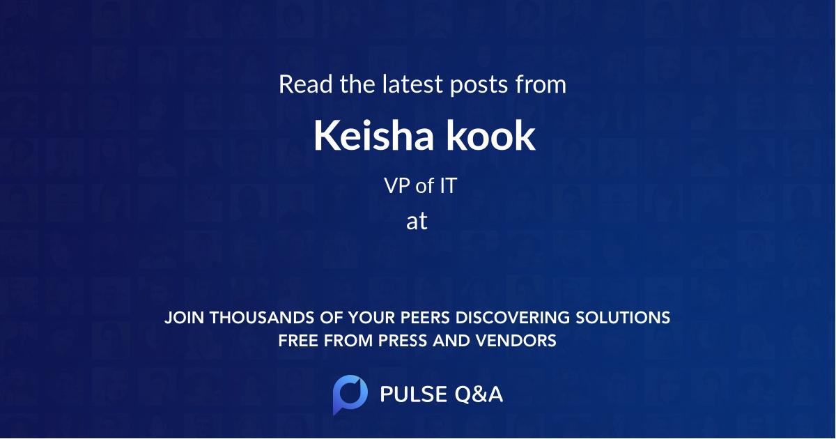 Keisha kook
