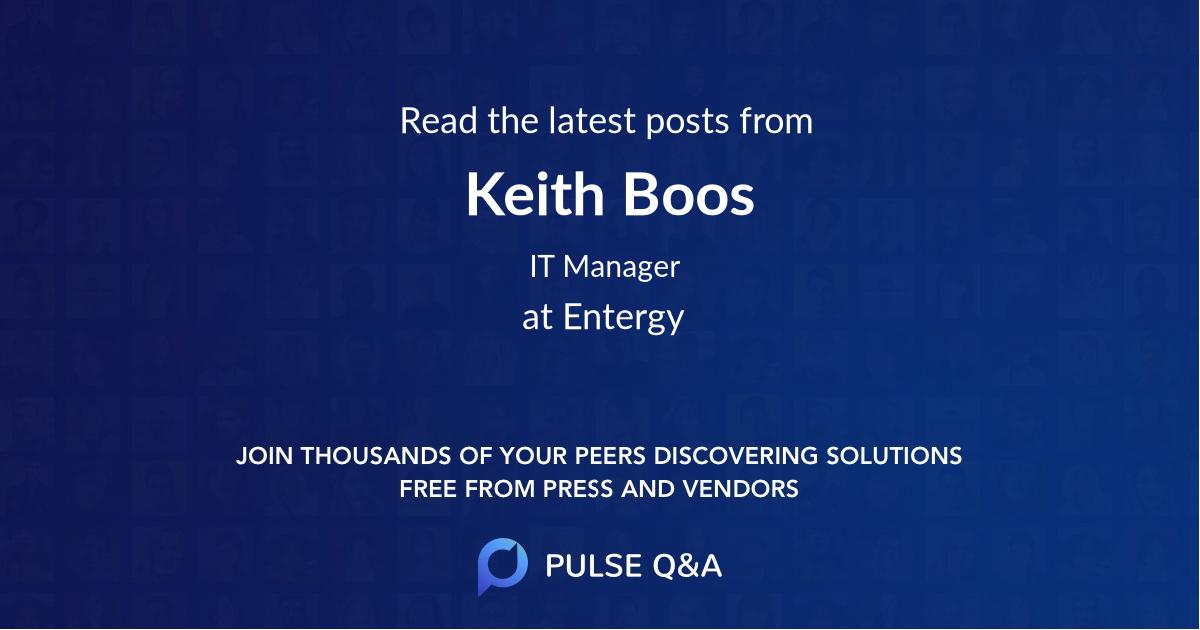 Keith Boos