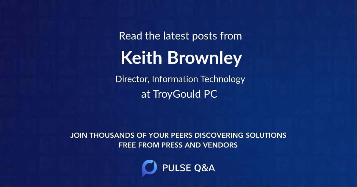 Keith Brownley