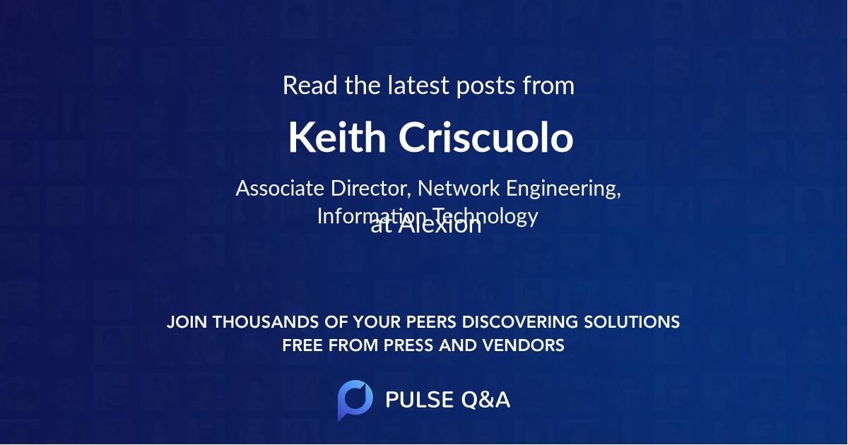 Keith Criscuolo
