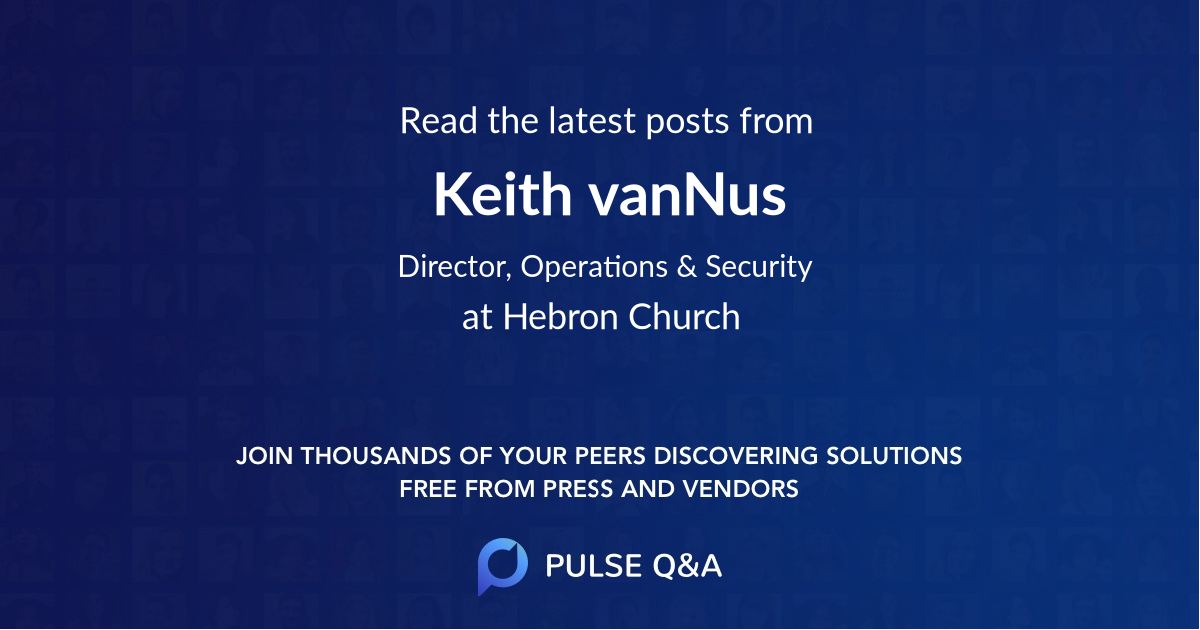 Keith vanNus
