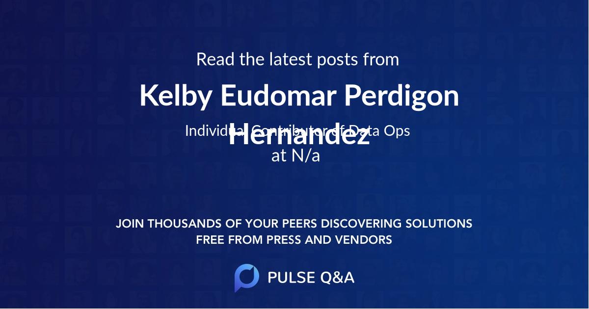 Kelby Eudomar Perdigon Hernandez