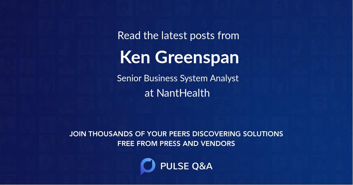 Ken Greenspan