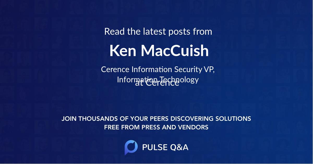 Ken MacCuish