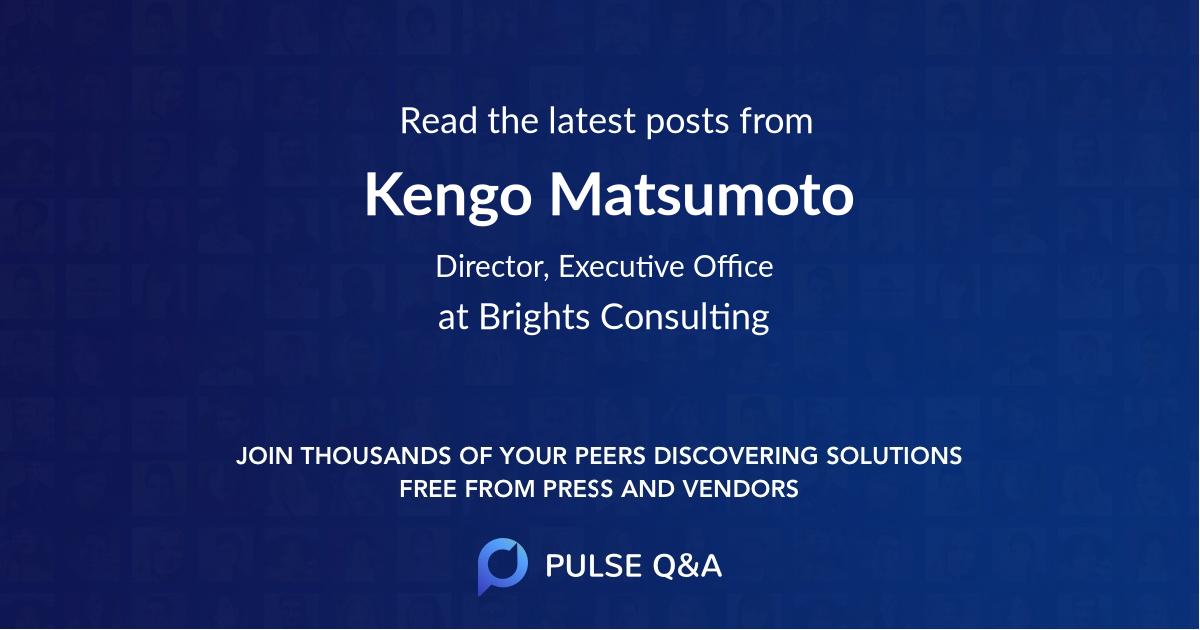 Kengo Matsumoto