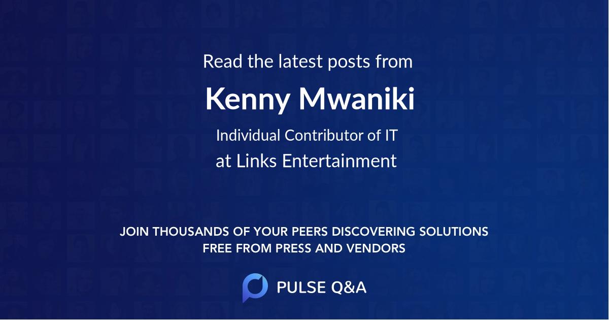 Kenny Mwaniki