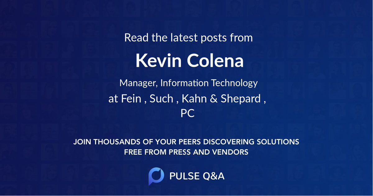 Kevin Colena