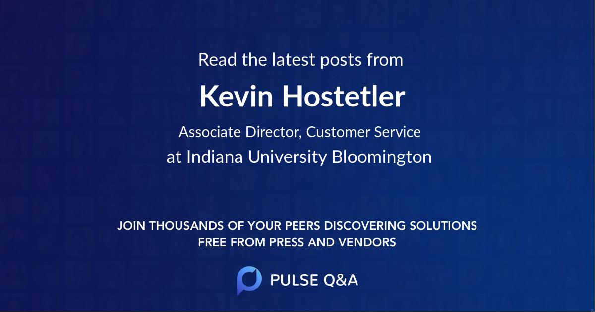 Kevin Hostetler