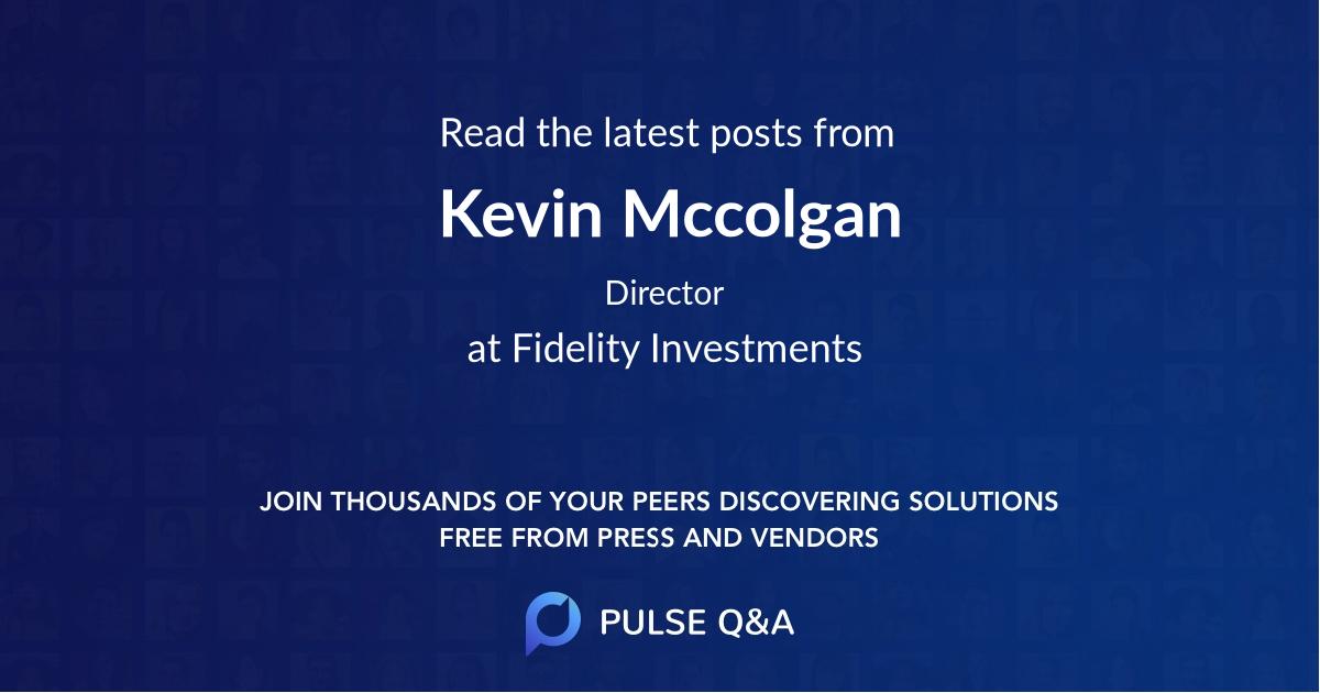 Kevin Mccolgan