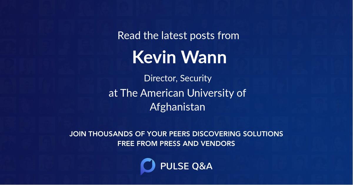 Kevin Wann