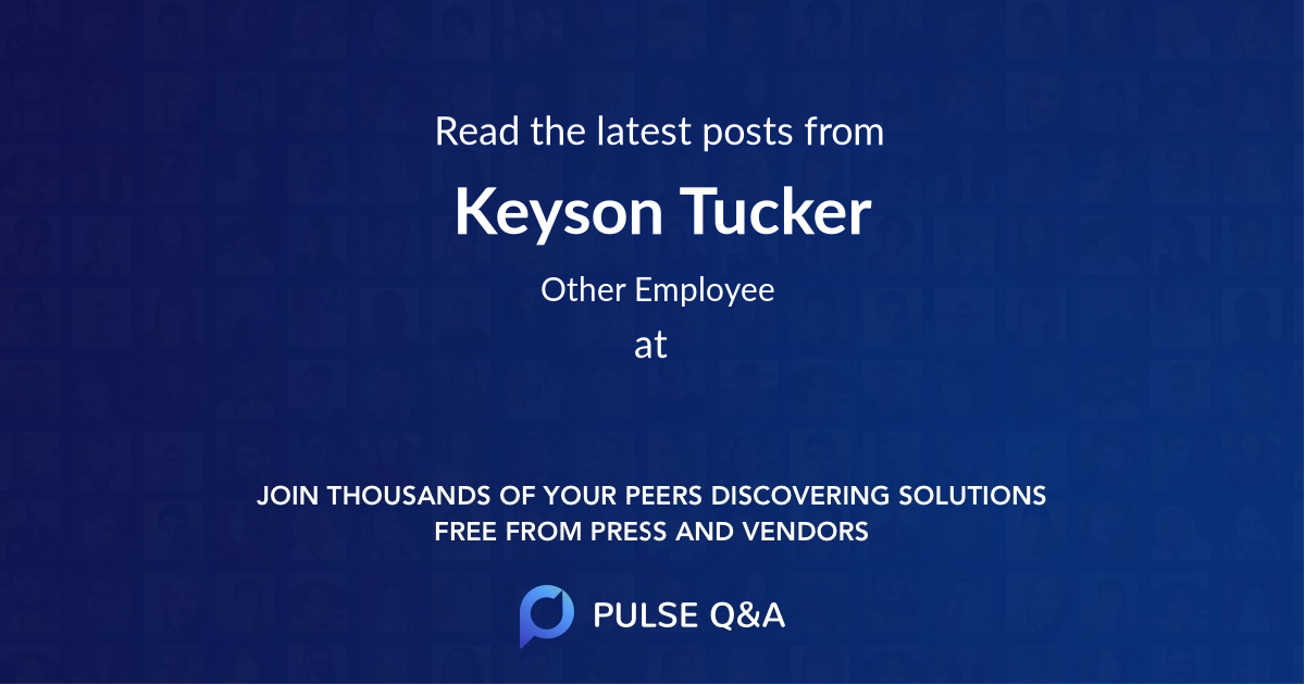 Keyson Tucker