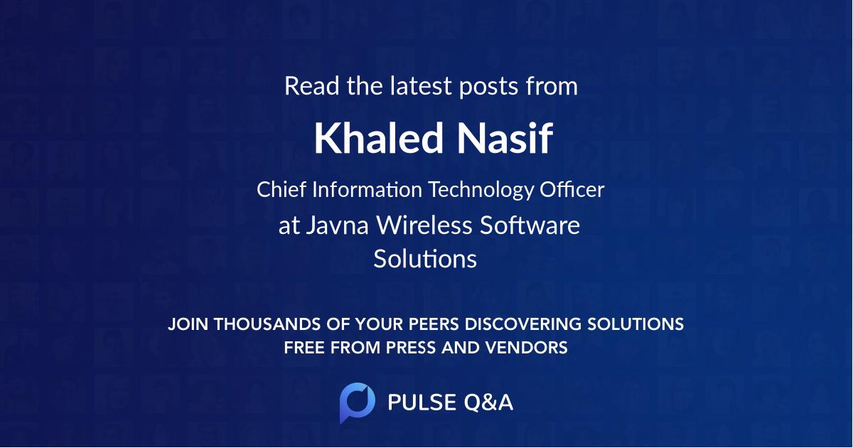 Khaled Nasif