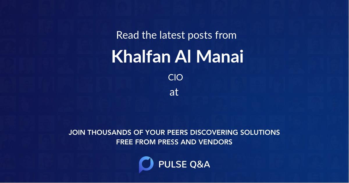 Khalfan Al Manai