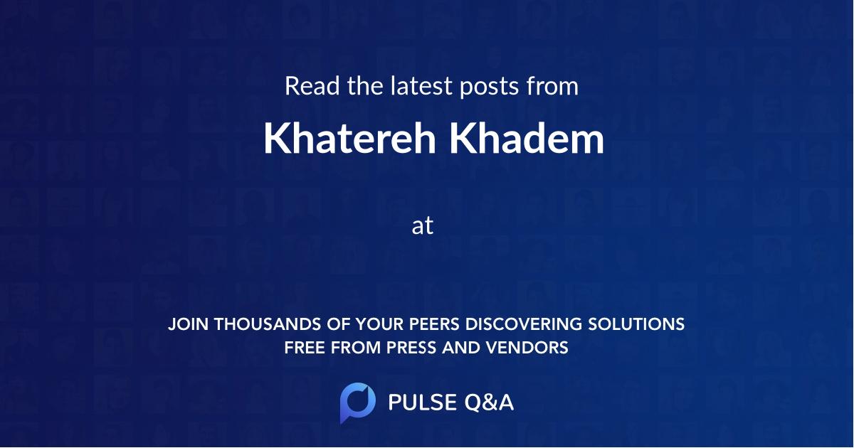 Khatereh Khadem