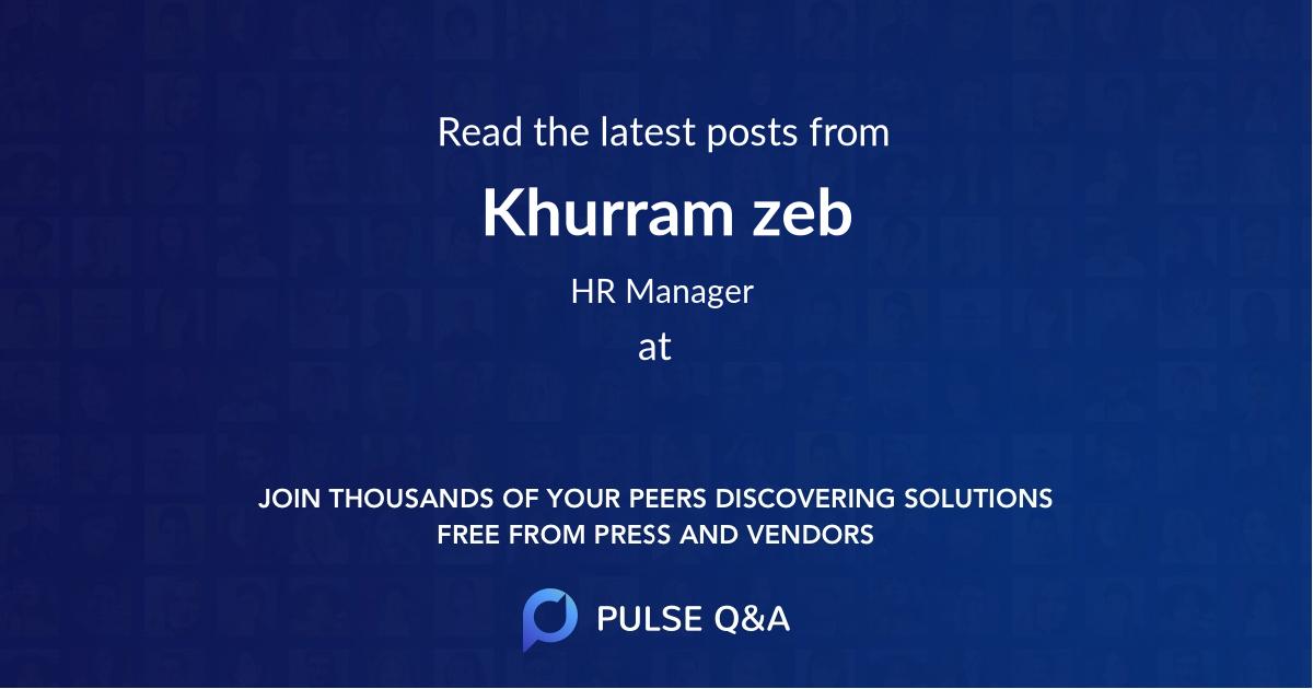 Khurram zeb
