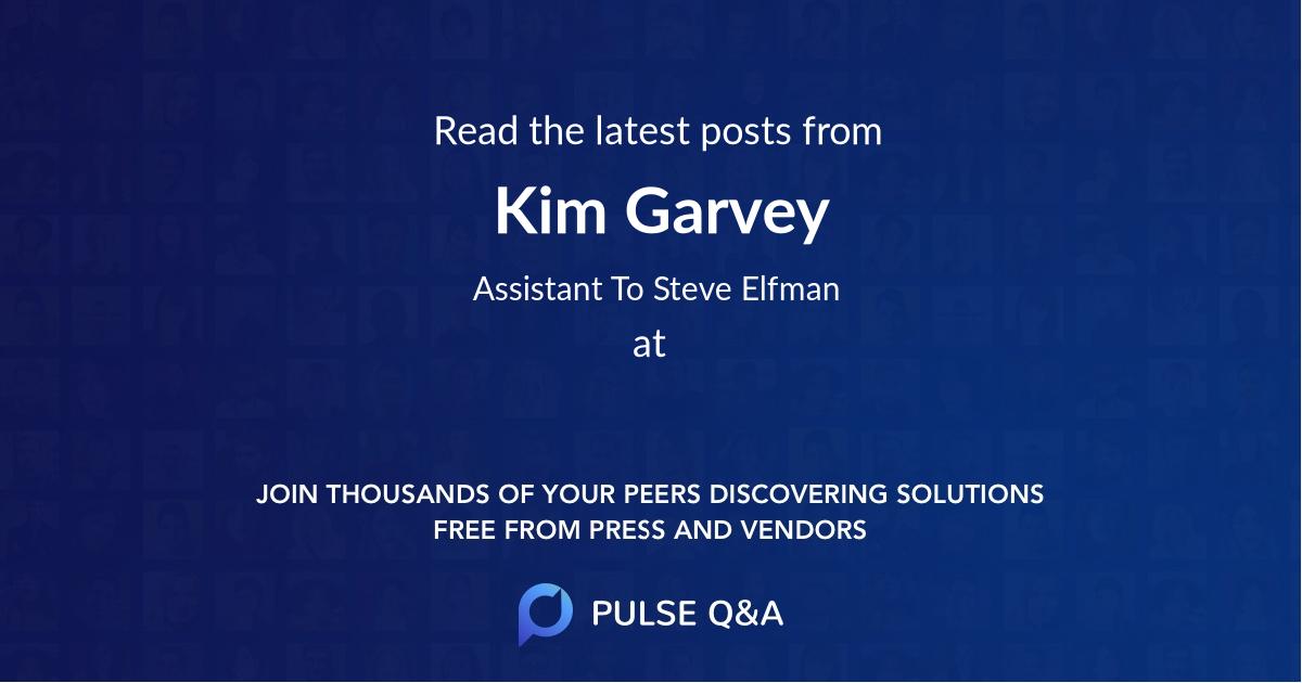 Kim Garvey