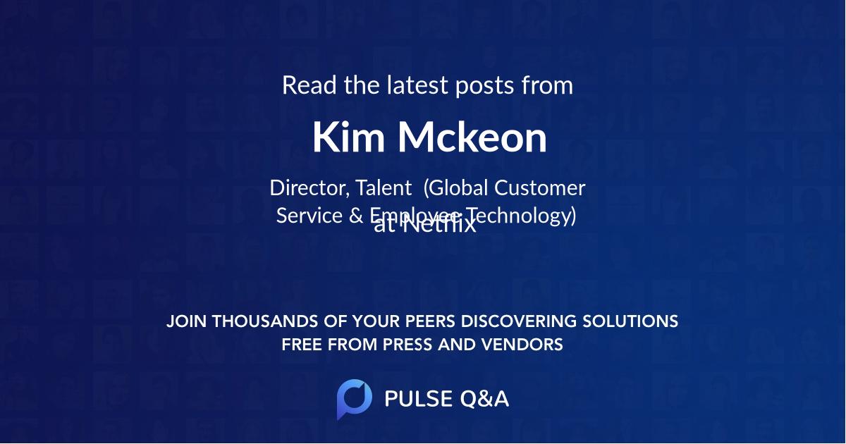 Kim Mckeon