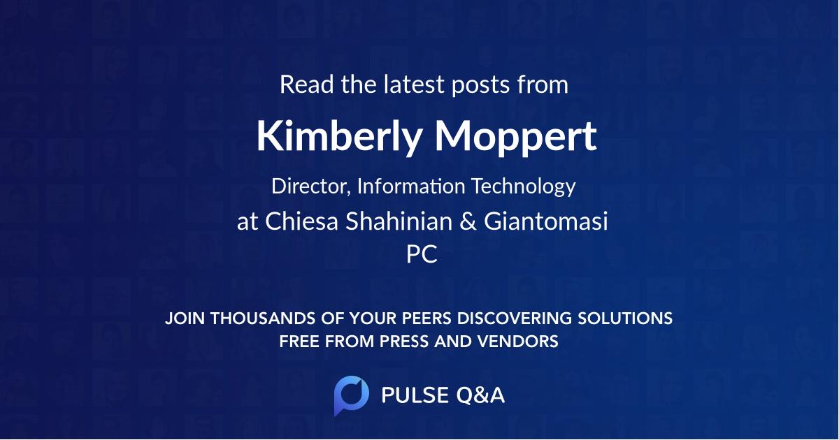 Kimberly Moppert