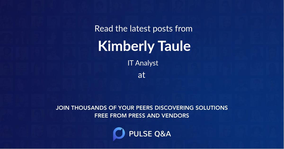 Kimberly Taule