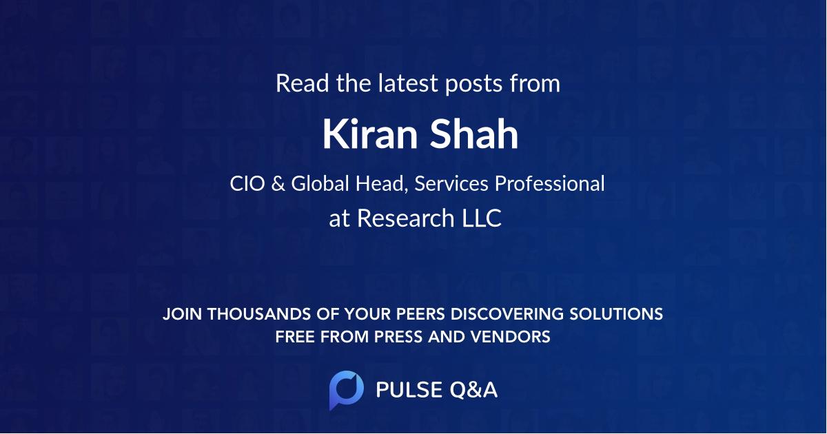 Kiran Shah
