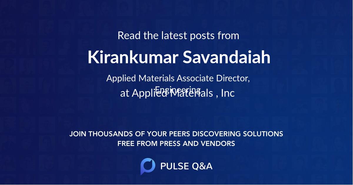 Kirankumar Savandaiah