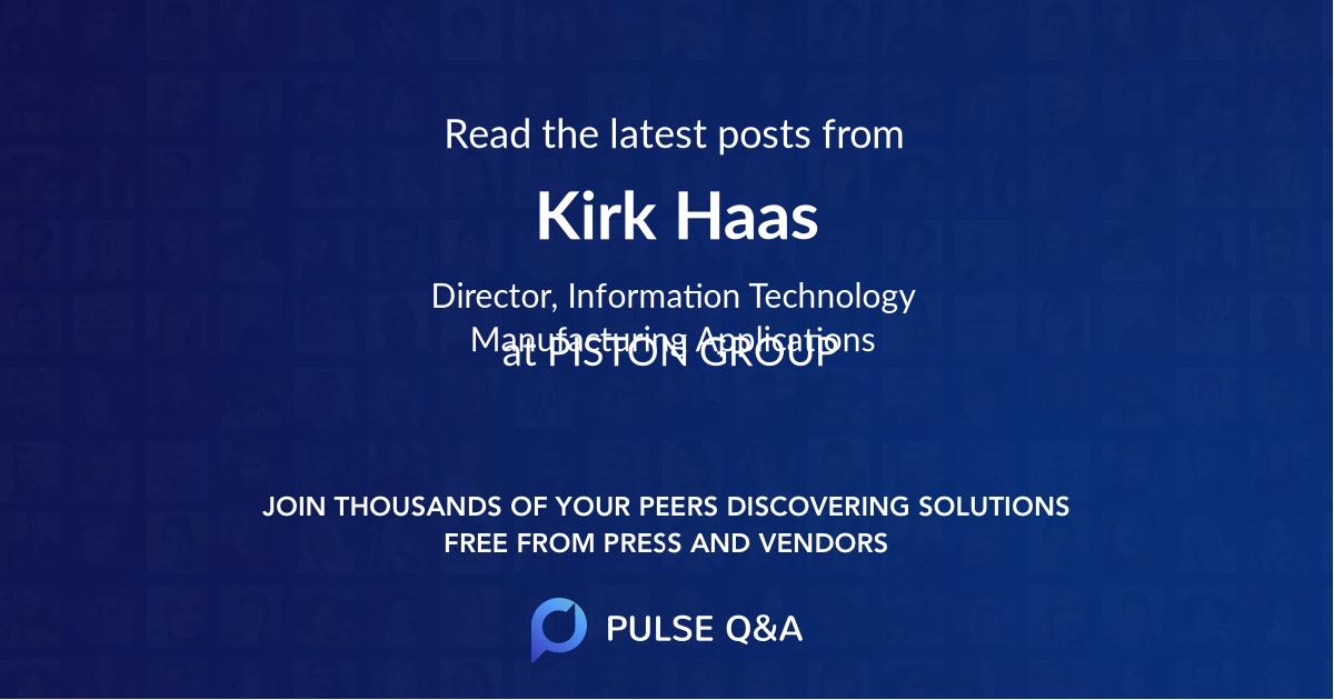 Kirk Haas