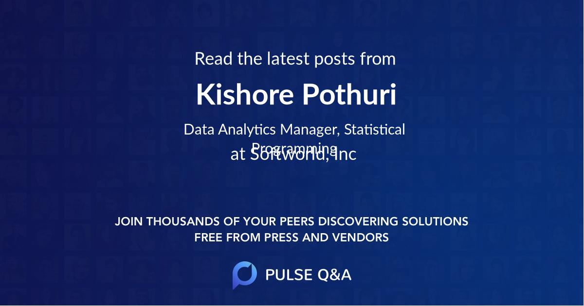 Kishore Pothuri