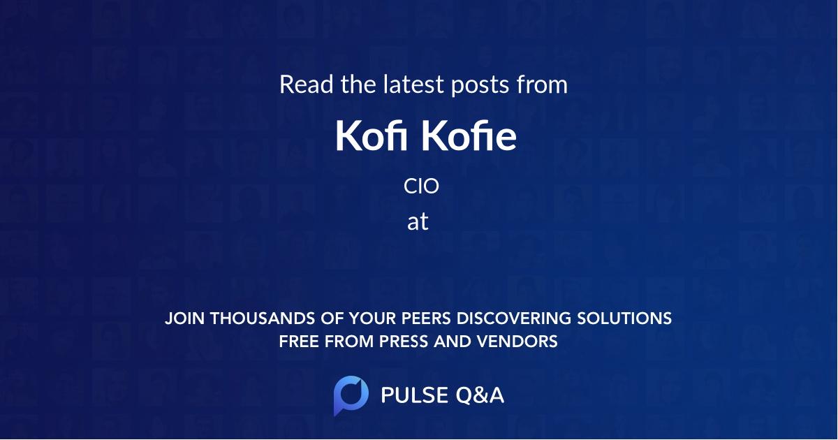 Kofi Kofie