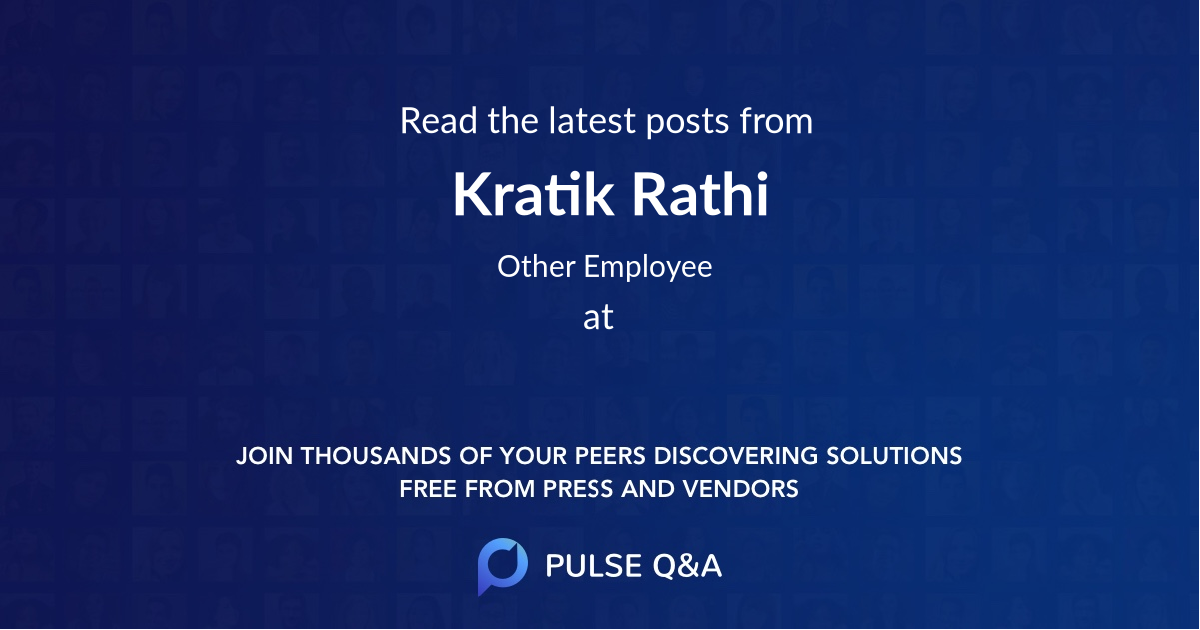Kratik Rathi