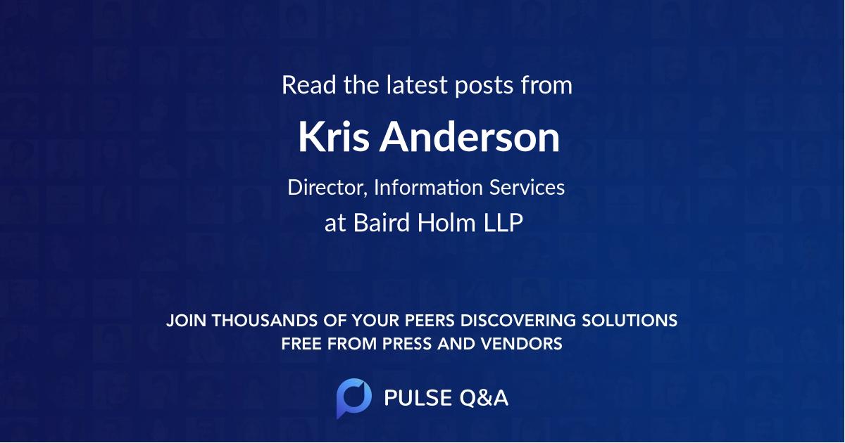 Kris Anderson