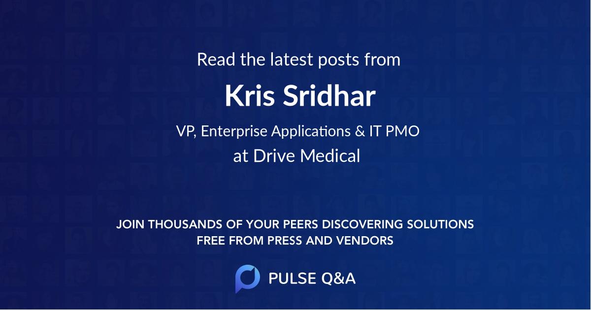 Kris Sridhar