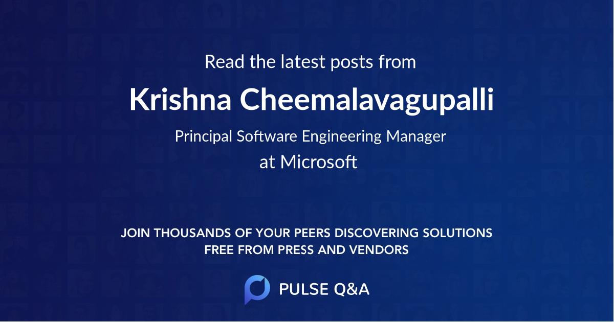 Krishna Cheemalavagupalli
