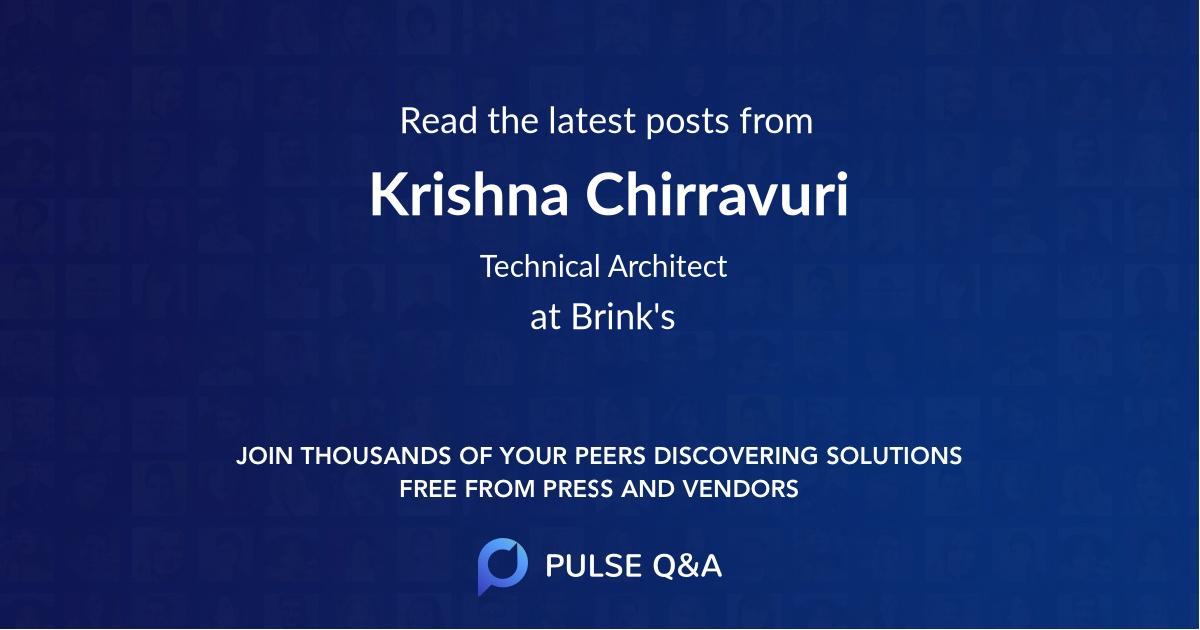 Krishna Chirravuri